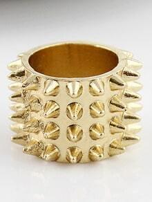 Fashion Gold Rivet Ring