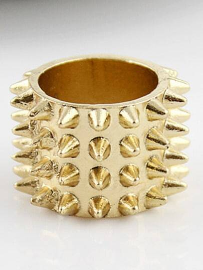 Fashion Gold Rivet Ring
