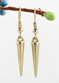 Gold Spike Dangle Earrings