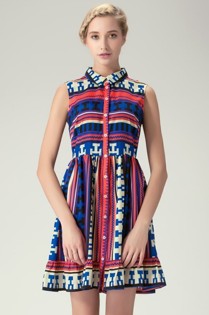 Aztec Printed t Shirts Aztec-print Shirt Dress