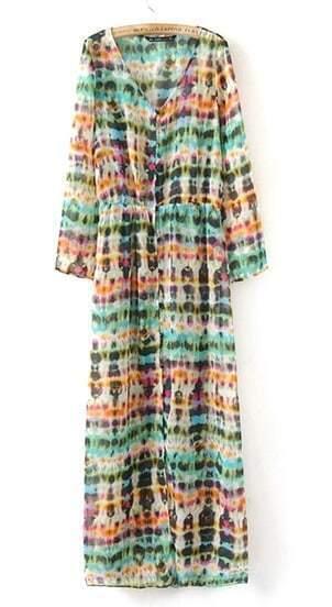 Vestido gasa-Multicolor