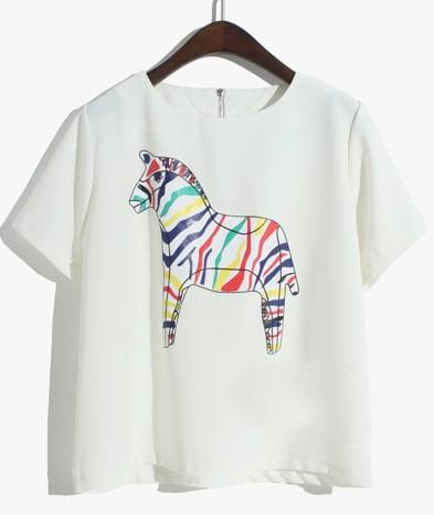 Zebra Chiffon Blouse 55