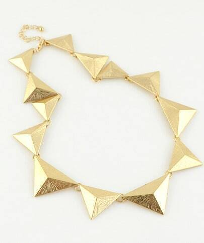 Gold Splice Triangle Necklace
