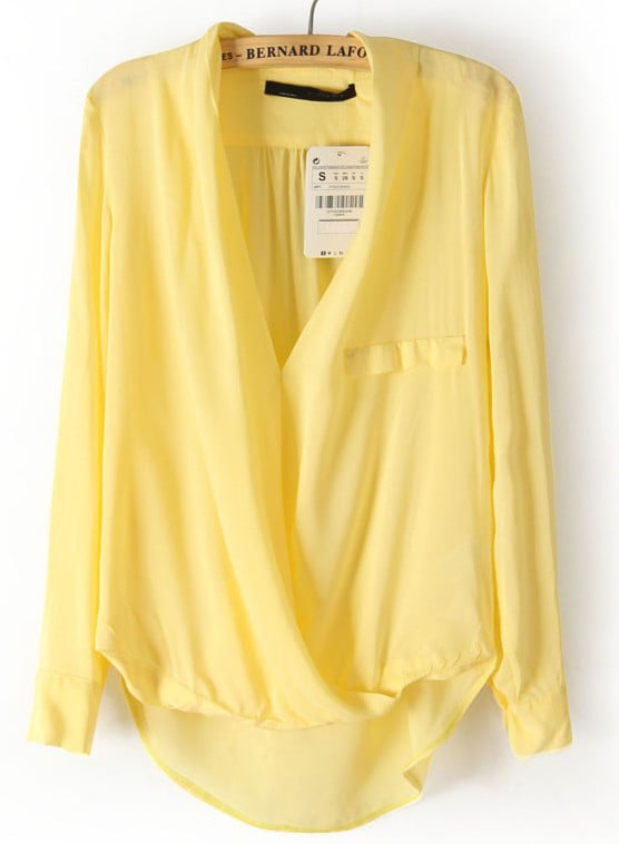 Long Sleeve Yellow Blouse 20