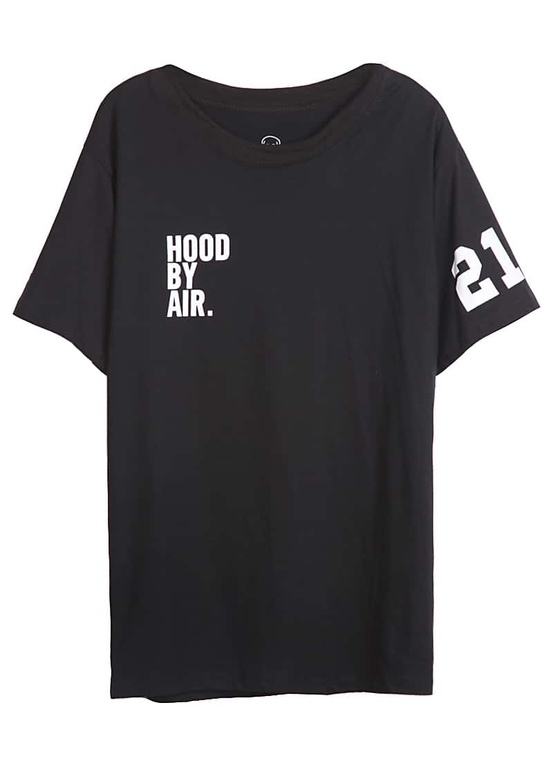 black short sleeve letters 21 print t shirt shein sheinside