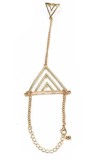Fashion Jewelry Triangle Bracelet With Ring