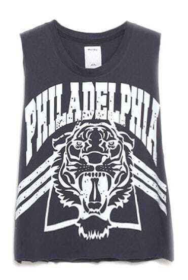 Black Tiger PHILADELPHIA Print Vest