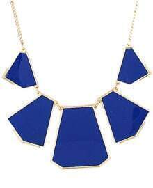 Blue Collar Geometry Irregular Pendant Necklace