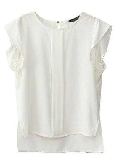 Short White Blouses