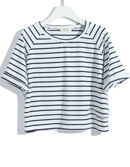 Navy And White Striped T Shirt