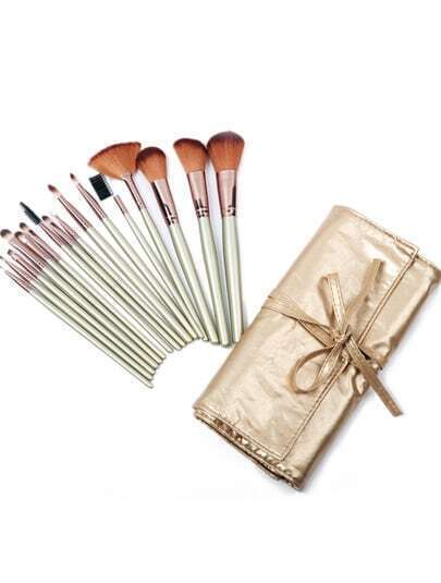 16pcs Gold Makeup Brush Set