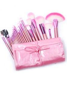 Ensemble de brosse rose de maquillage 22pcs