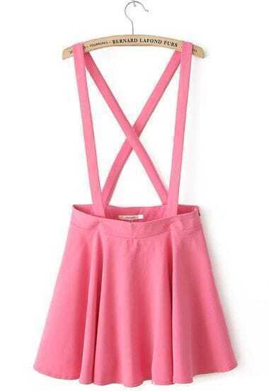 Red Criss Cross Zipper Skirt