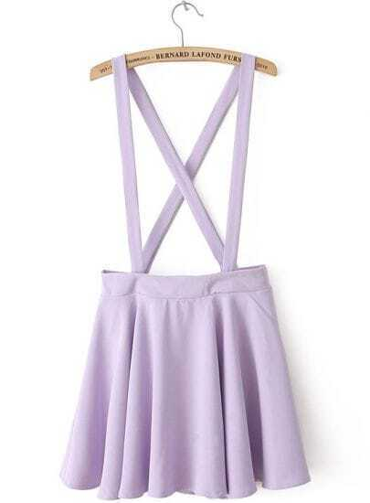 Purple Criss Cross Zipper Skirt