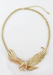 Gold Eagle Chain Necklace