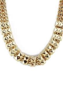 Gold Rivet Chain Necklace