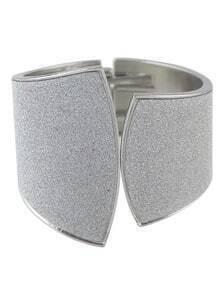 Silver Frosted Elastic Bracelet