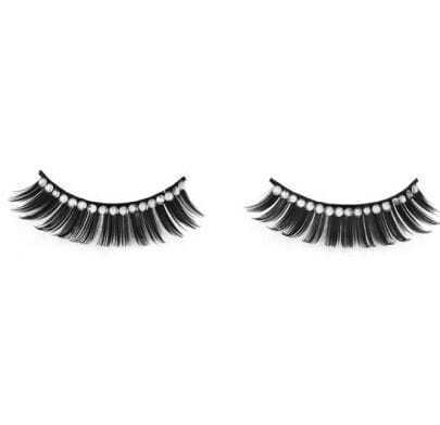 Black Handmade Charming Shining Rhinestone False Eyelashes