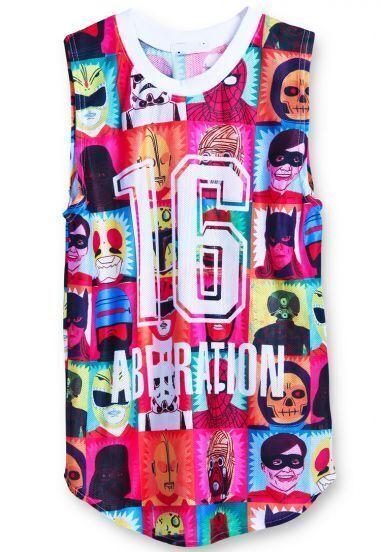 Multicolor 16 ABERRATION Superman Print Vest