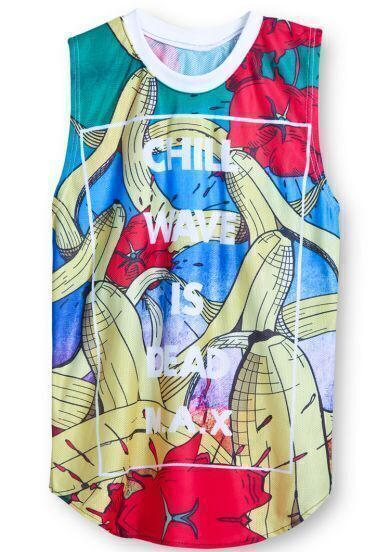 Multicolor CHILL WAVE IS DEAD MAX BANANA Vest