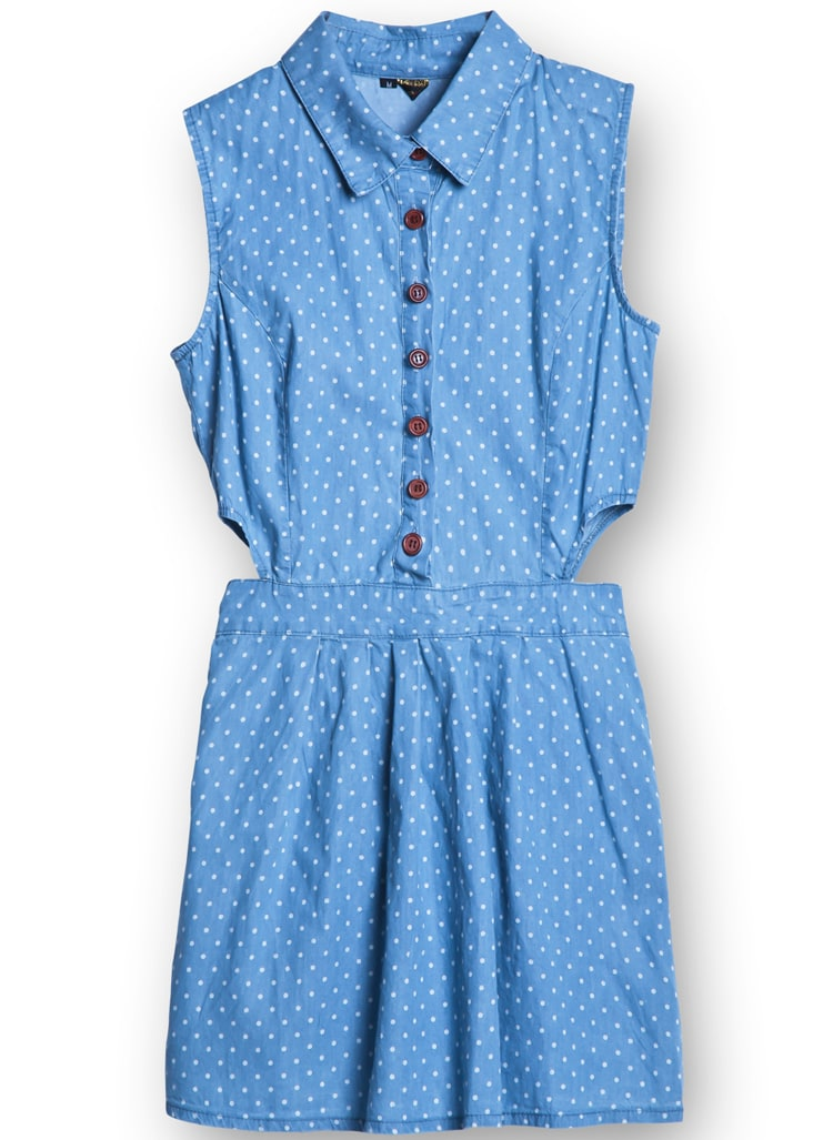 Light Blue Polka Dot Shirt Light Blue Sleeveless Polka
