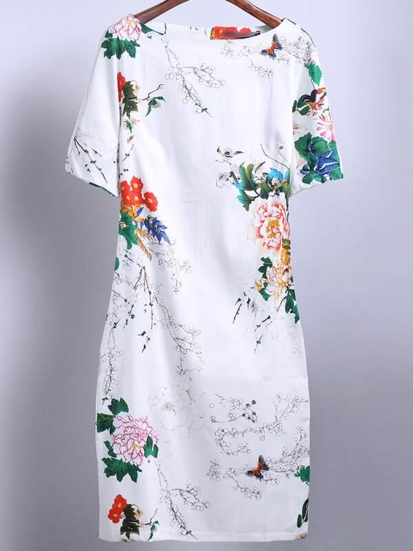 Robe blanche papillon