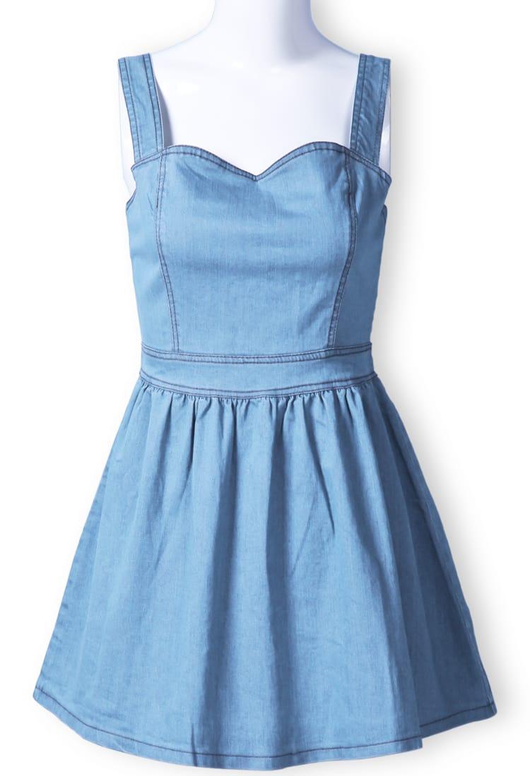 Light blue denim dresses