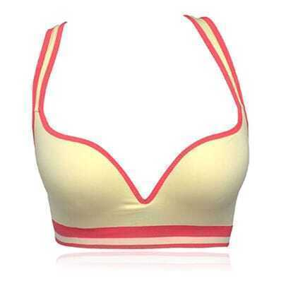 Yellow Dry Fit Ms.Yoga Sports Bra