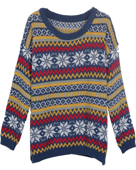 Snowflake Striped Sweater 47