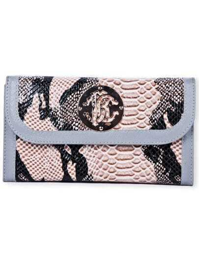 Yellow Snakeskin PU Clutch Bag With Chain