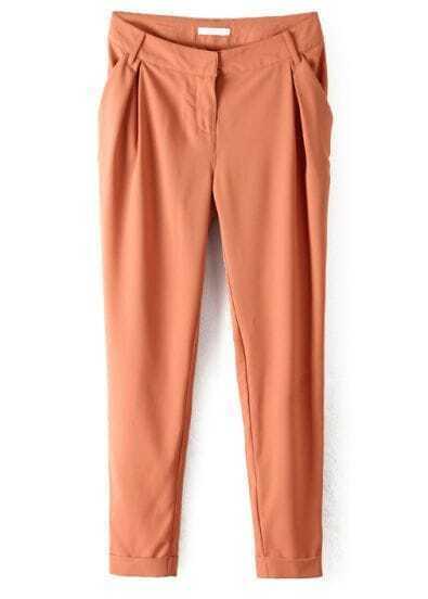 Yellow Mid Waist Pockets Loose Pant