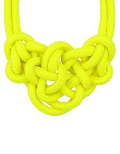 Yellow Twine Elastic Necklace pictures