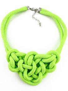 Green Twine Elastic Necklace
