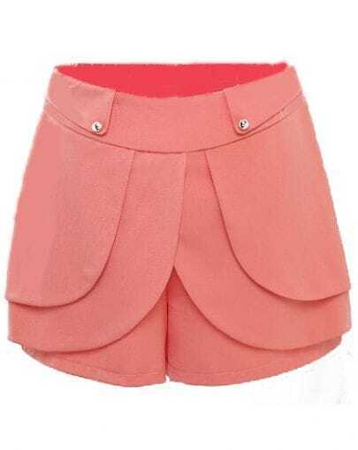 Light Orange High Waist Cascading Ruffle Shorts