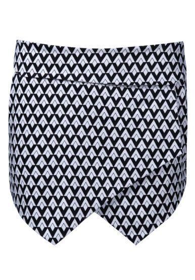 Black White Diamond Print Shorts