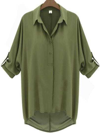 Camisa mangas murciélago-Verde