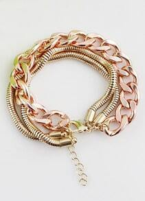 Gold Multilayer Chain Bracelet