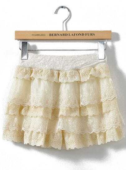 Apricot Cascading Lace Shorts