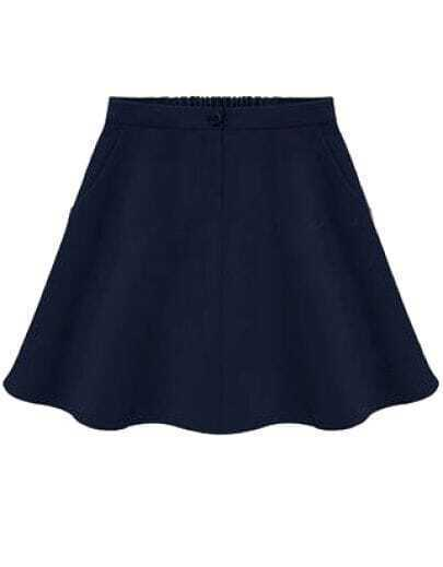 Navy Blue A Line Skirt