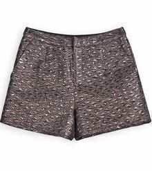 Metallic Copper Geometric Straight Shorts