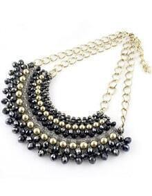 Black Gold Bead Chain Necklace
