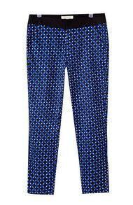 Blue Black Plaid Geometric Print Pant