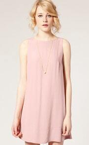 Pink Sleeveless Cool Summer Dress