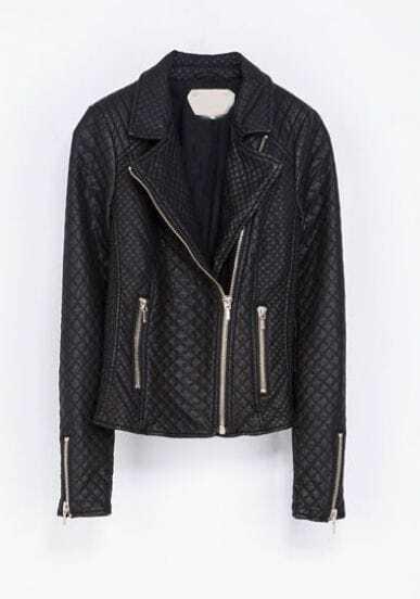 Black Lapel Long Sleeve Geo Pattern Crop Jacket