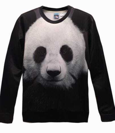 Black and White Panda Print Unisex Sweatshirt