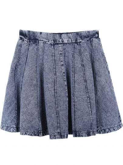 Grey Street Pleated Denim Skirt