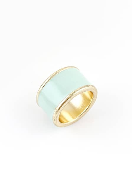 fashion green gold simple design ring shein sheinside