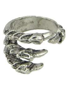Silver Vintage Claw Ring
