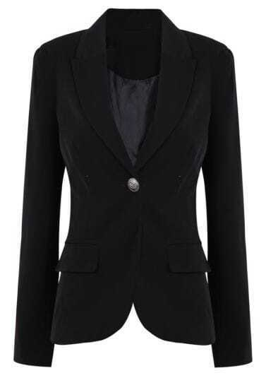 Black Boyfriend Ponte One Button Blazer