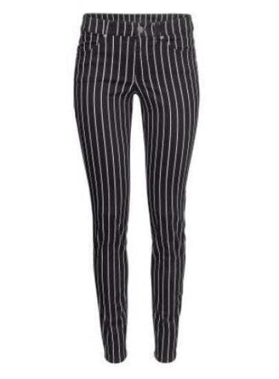Black White Vertical Stripe Casual Pant